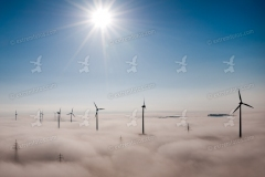 Windpark Inning. Weltbestes Windenergiefoto.