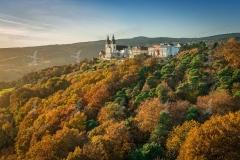 Goldener Herbst in Maria Taferl-Luftaufnahme.